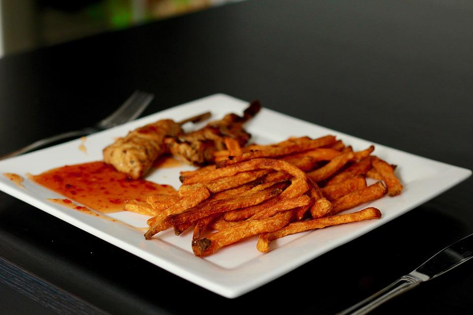 Sweet Potato Fries, Eat, French, French Fries, Food
