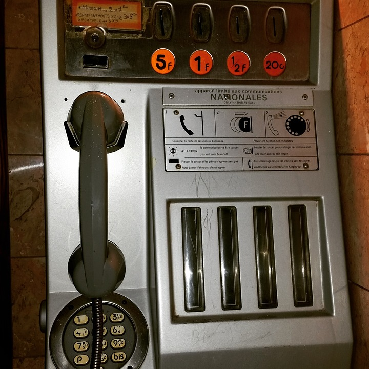 Paris, France, Payphone, Telephone, French, Europe