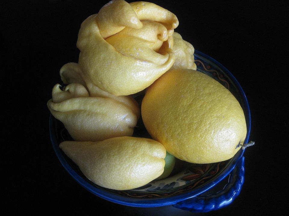 Lemons, Fruit, Bowl, Citrus, Strange, Food, Fresh