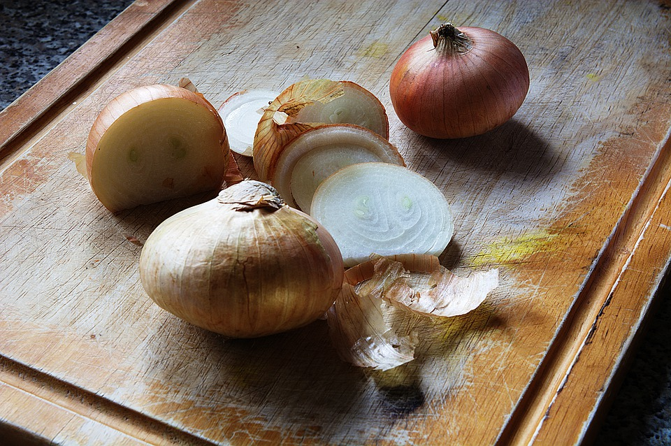 Onions, Cut, Vegetable, Food, Chopping Board, Fresh