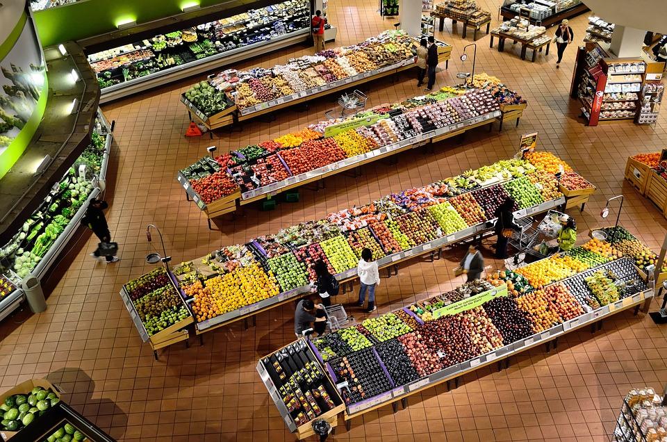 Supermarket, Stalls, Coolers, Market, Food, Fresh, Shop