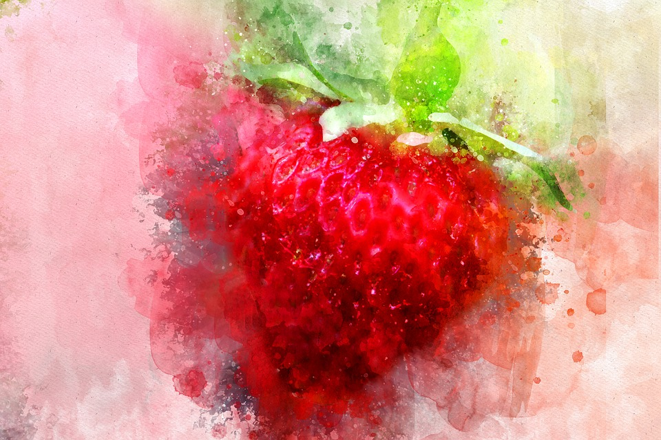 Strawberry, Red, Watercolor, Fruit, Food, Fresh, Sweet