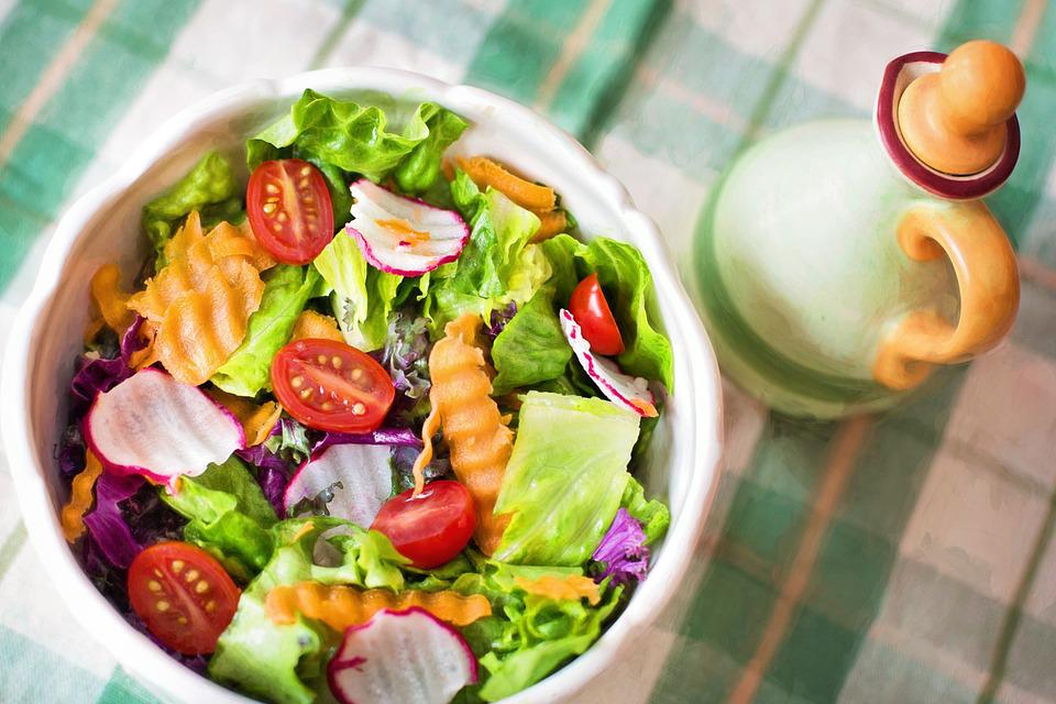 Salad, Fresh, Veggies, Vegetables, Healthy, Diet, Food