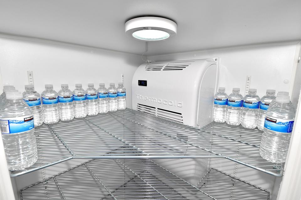 Water Bottle, Empty Fridge, Fridge, Cold, Refrigerator