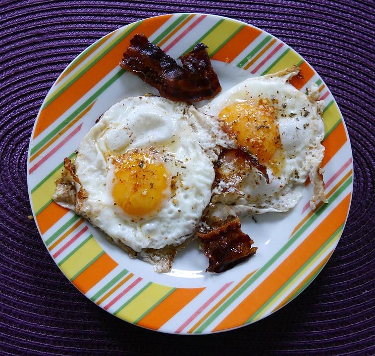 Fried, Eat, Egg, Breakfast, Fried Bacon