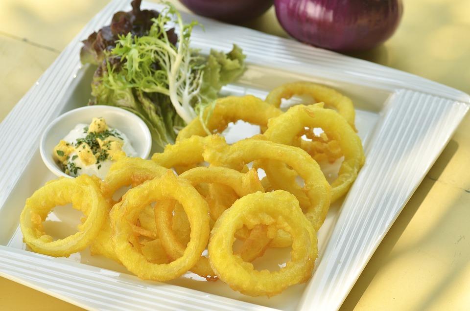Squid Rings, Fried, Deep Fried, Onion Rings, Food