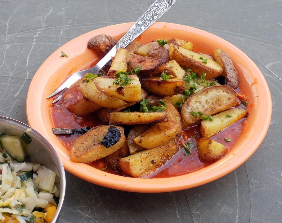 Potatoes, Fried, Sauce