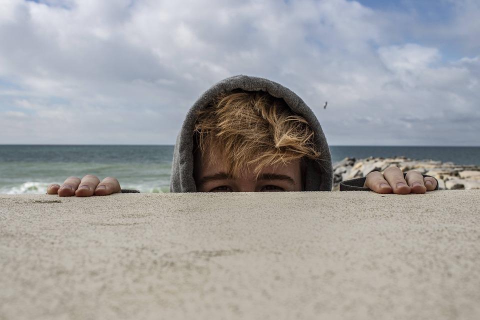 Beach, Rocks, Friend, Portrait, Sea, Water, Ocean, Rock