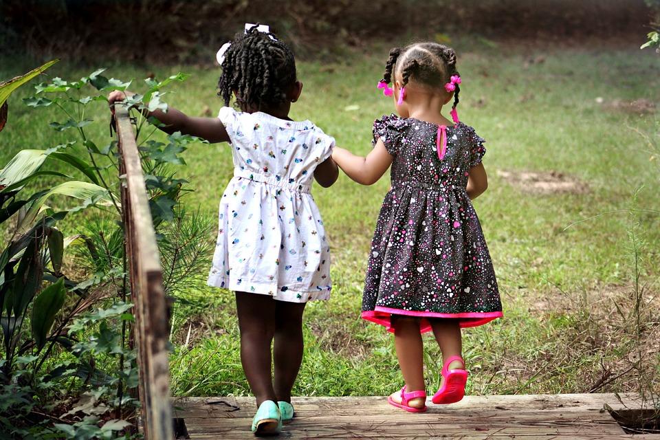 Girls, Children, Kids, Friends, Young, Happy, Childhood