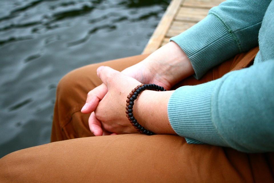Guy, Hands, Friendship Bracelet, On The Shore
