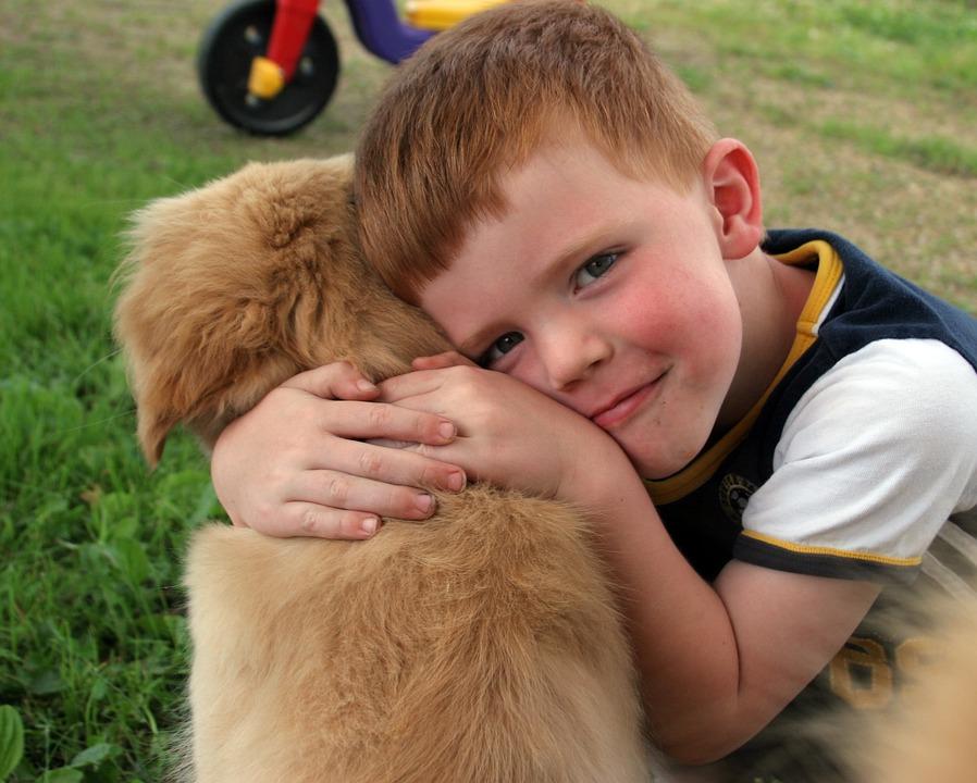 Puppy, Boy, Love, Cute, Happy, Friendship, Friend, Dog