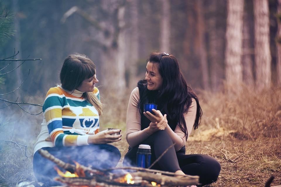 Women, Girls, Talking, Smile, Happy, Friendship