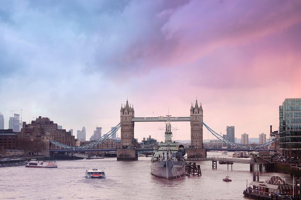 London, Tower Bridge, Architecture, Bridge, Frigate