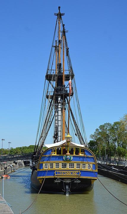Sailboat, Frigate, Hermione, Three-masted, Boat