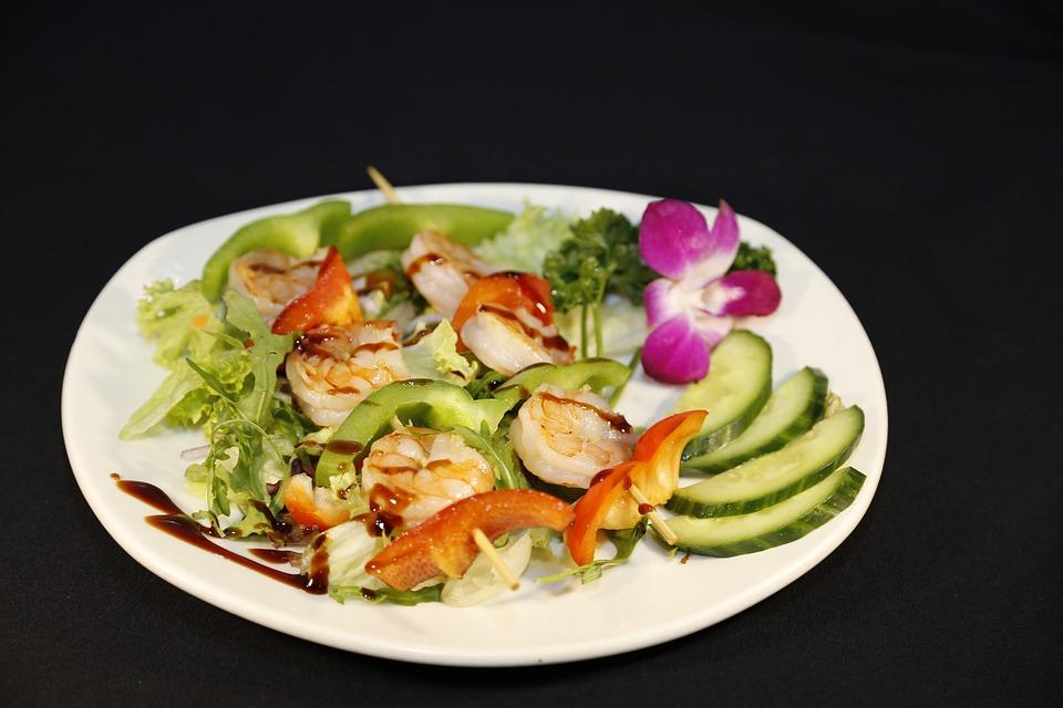 Salad, Starter, Frisch, Eat, Shrimp