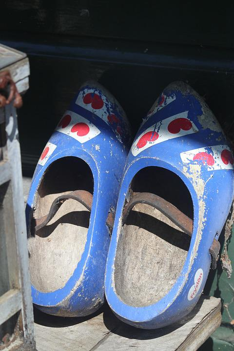 Wooden Shoes, Frisia, Dutch, Old, Historically, Clogs