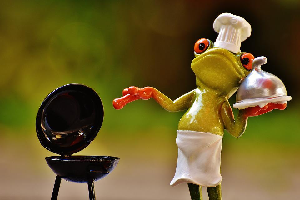 Frog, Cooking, Grill, Fig, Funny, Barbecue, Chef's Hat