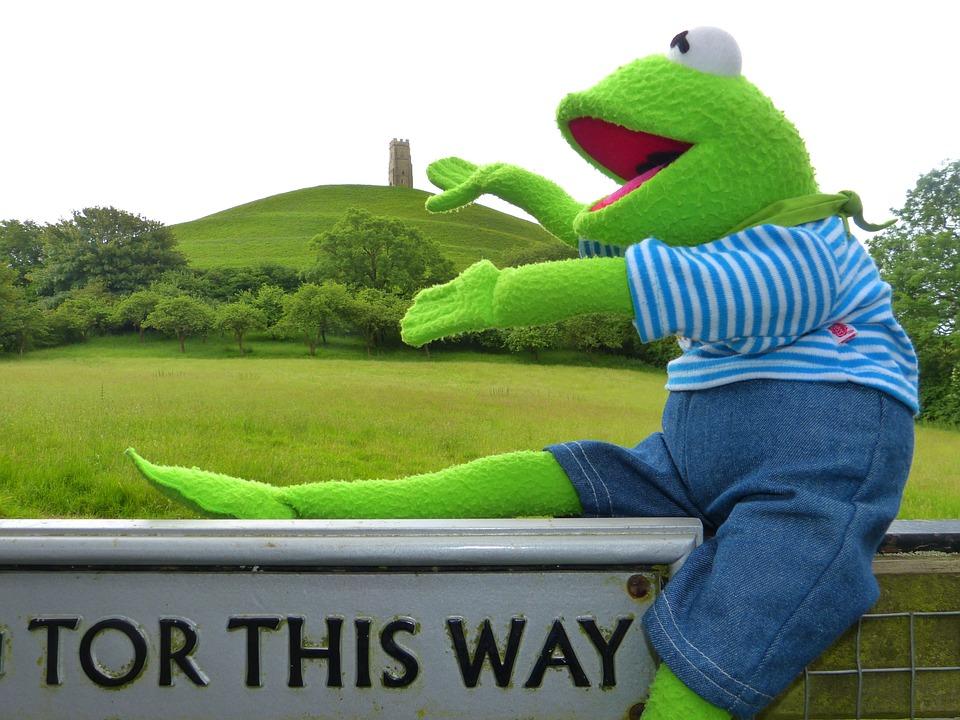 Glastonbury Tor, Kermit, Frog, Directory, England