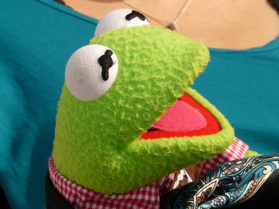 Kermit, Frog, Green, Doll, Fig, Laugh, Curious, Joy