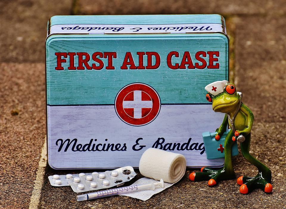 First Aid, Frog, Medic, Nurse, Funny, Box, Tin Can