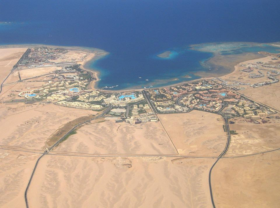Hurghada, View, From The Plane