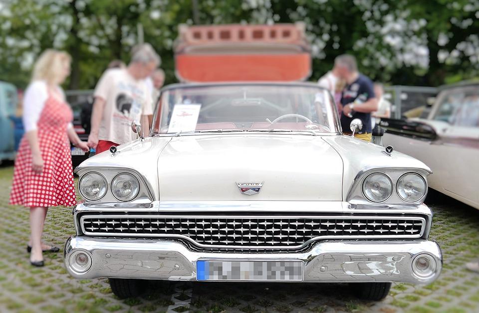 Auto, Retro, Automotive, Usa, Nostalgia, Cars, Front