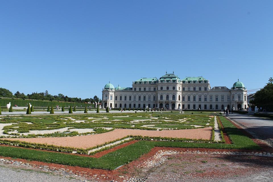 Belvedere, Gardens, Vienna, Palace, Castle, Front