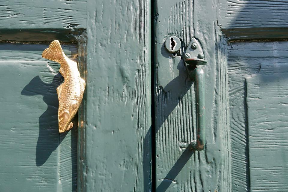 Front Door, Door Handle, Fish, Decorative, Metal