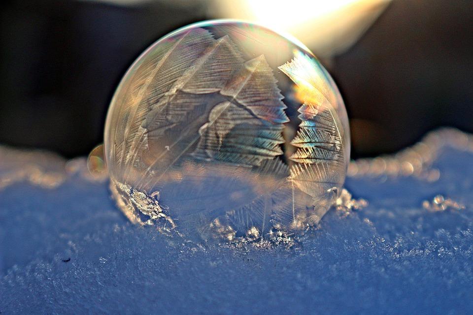 Frost Ball, Frozen Bubble, Soap Bubble, Frost Bubble