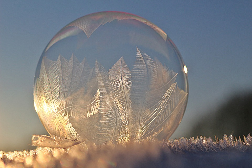 Soap Bubble, Frost Blister, Ice Crystal, Winter, Frost