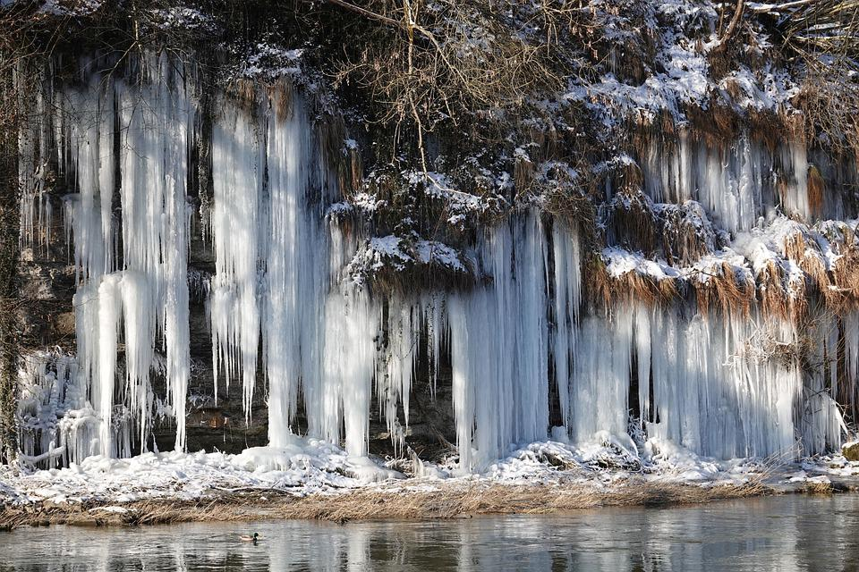 Icicle, Icicle Wall, Winter, Cold, Ice, Frozen, Frost