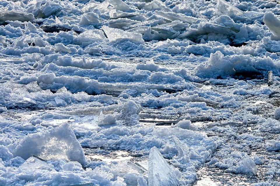 Ice, Winter, Frost, Cold, Frozen, Ice Floes, Elbe
