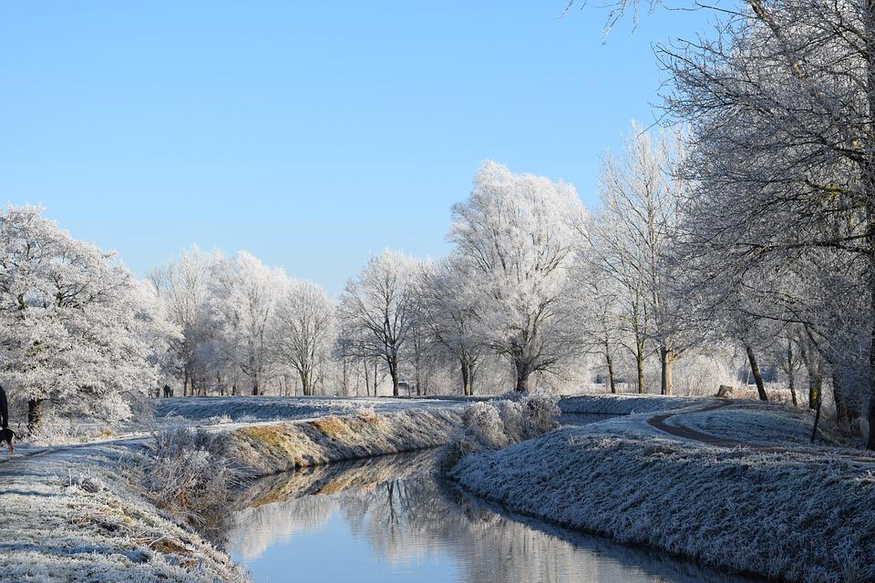 Delmenhorst, Graft, Mili, Winter, Wintry, Frost