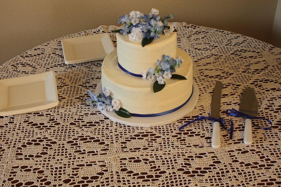 Wedding Cake, Frosting, Baked, Celebration, Occasion