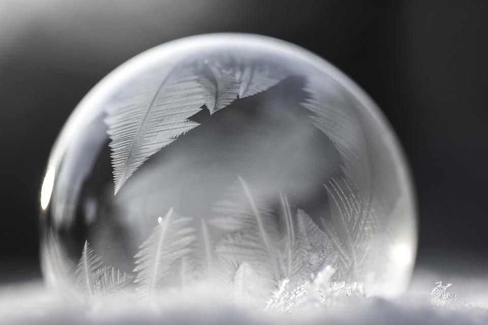 Soap Bubble, Eiskristalle, Winter, Bubble, Ball, Frozen