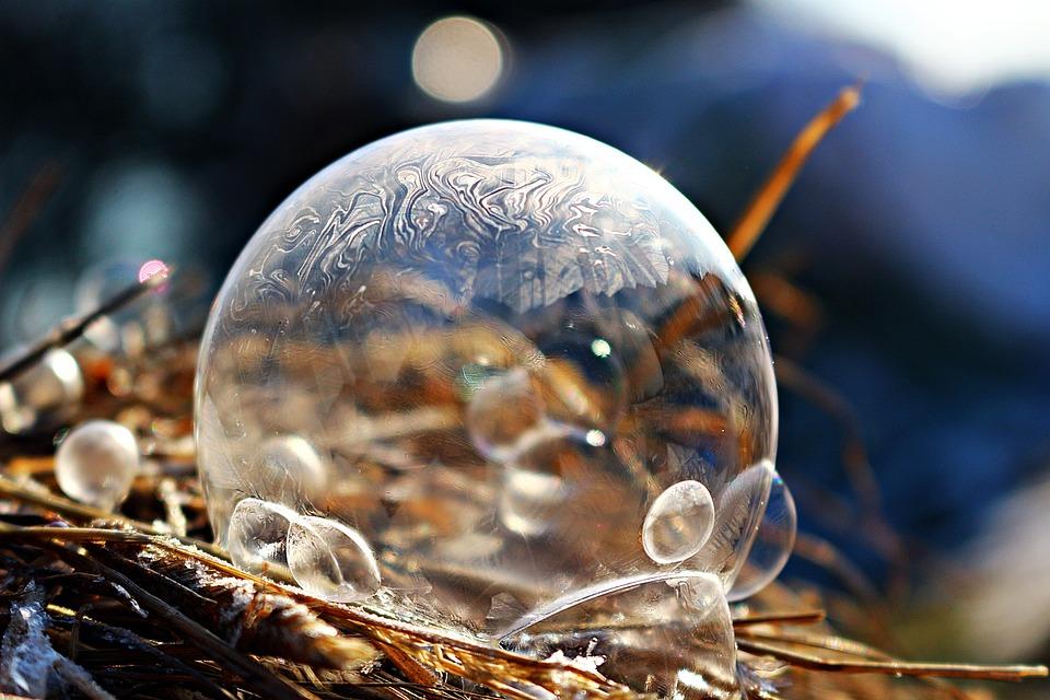 Ice Bubble, Ice Ball, Soap Bubble, Frozen Bubble