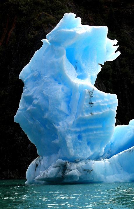 Iceberg, Blue, Fjord, Frozen, Floating, Glacial, Ice