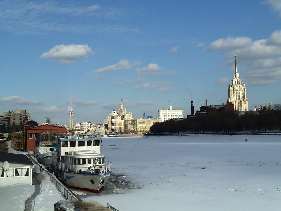 Russia, Frozen River, Ice, Boat, Cold, Glacier