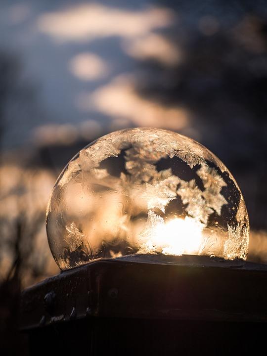 Frozen, Soap Bubble, Frozen Bubble, Winter, Cold