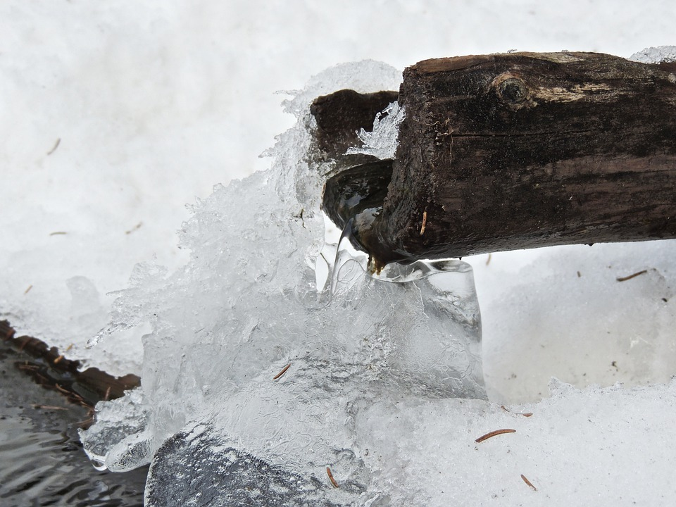 Fountain, Water, Winter, Ice, Cold, Frozen, Snow