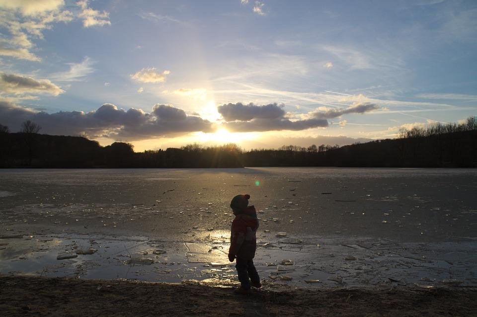 Lake, Winter, Frozen, Water, Landscape, Wintry