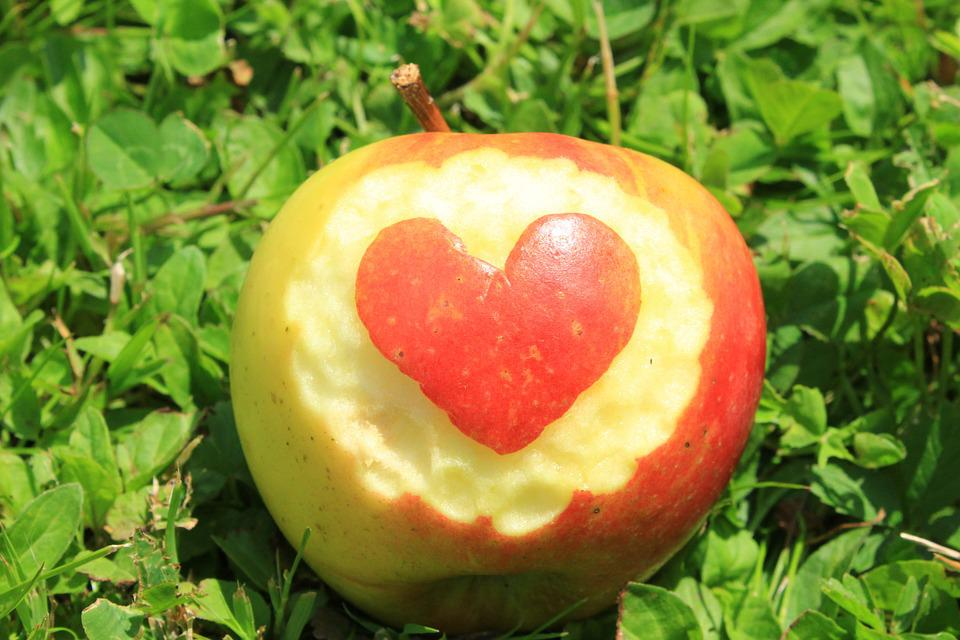 Fruit, Apple, Heart, Fruits, Delicious