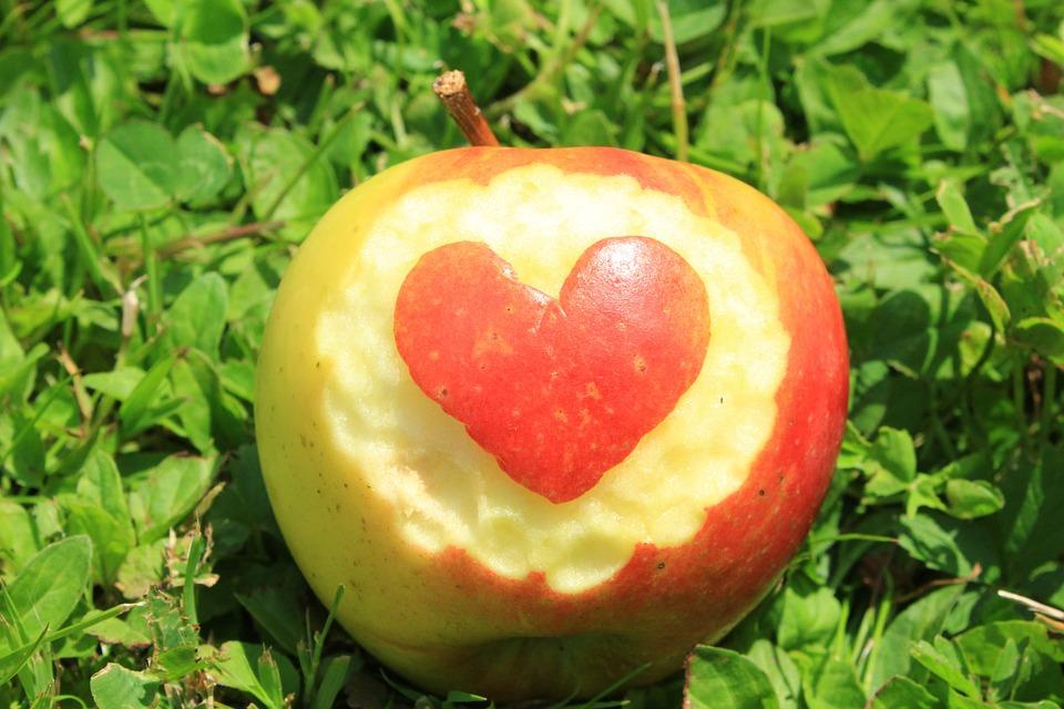Fruit, Apple, Heart, Fruits, Delicious