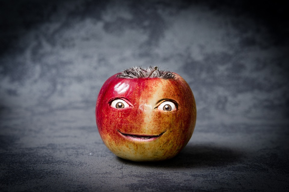 Apple, Funny, Face, Photo Manipulation, Fruit, Cute