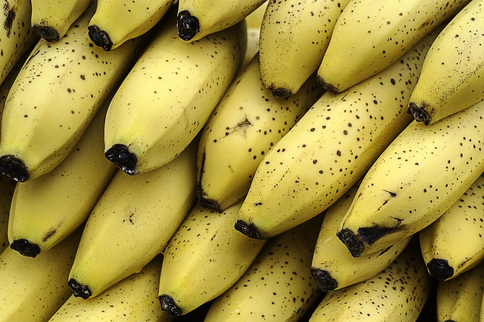 Bananas, Desserts, Fruit, Healthy, Yellow, Tropical