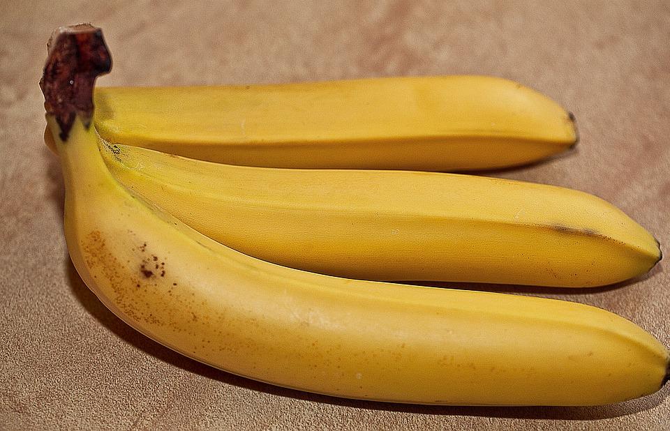 Bananas, Fruit, Southern Fruits, Yellow Bananas