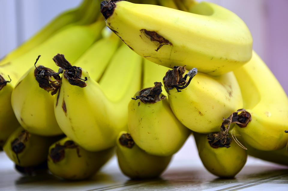 Bananas, Fruit, Fruits, Shrub, Banana Shrub, Yellow