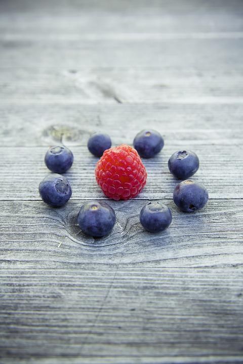 Blueberries, Raspberries, Fruit, Fruits, Delicious
