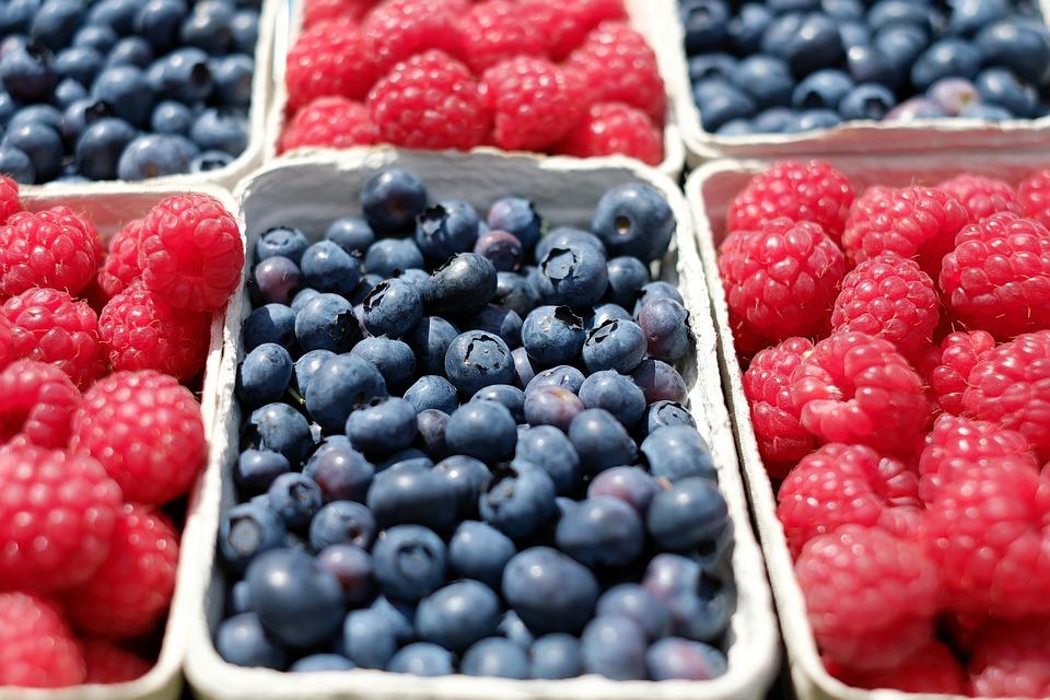 Berries, Blueberries, Raspberries, Fruit, Fruits