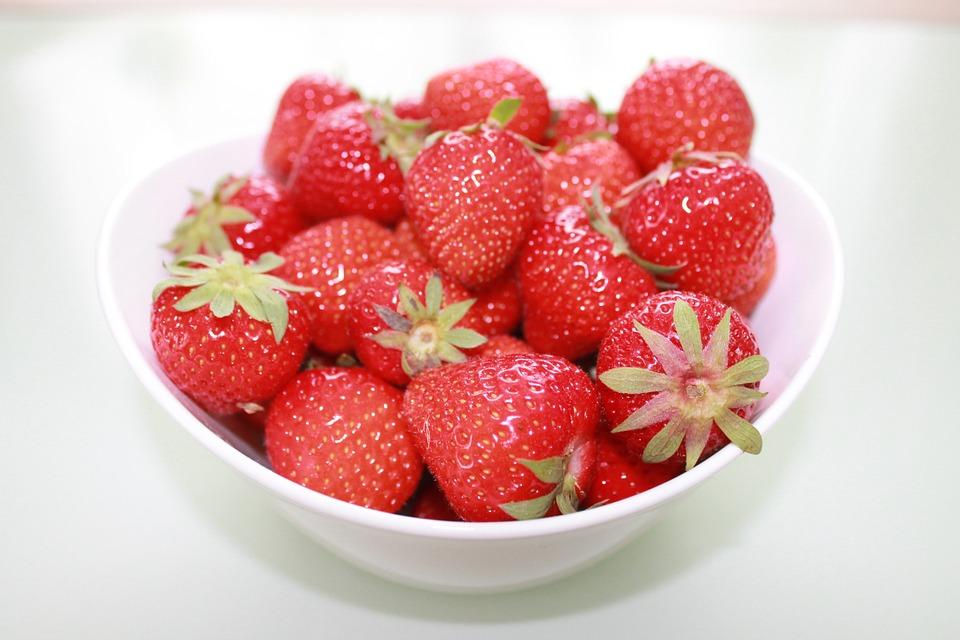 Strawberries, Fruit, Fruits, Red, Fruit Bowl, Vitamins